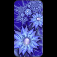 Шаблон №2109 Синие цветы-звезды