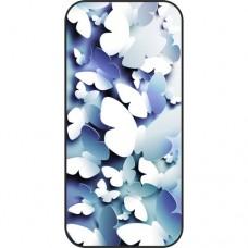 Шаблон №2160 Бумажные 3D бабочки (Цвет - синий)