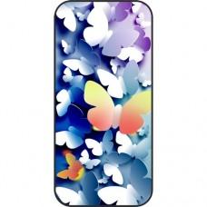 Шаблон №2161 3D бабочки (Цвет - синий с яркими встав