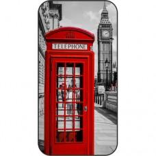 Шаблон №2206 Лондон - Телефонная кабина (Черно белый красный)
