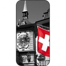 Шаблон №2207 Швейцария (Черно белый красный)