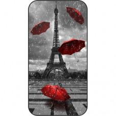 Шаблон №2209 Эйфелева башня - летающие зонтики