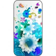 Шаблон №2237 Голубые цветы (Геометрические узоры)