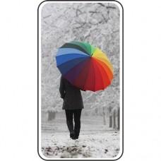 Шаблон №2246 Яркий зонт среди белоснежной зимы