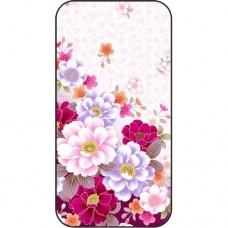 Шаблон №2252 Красно-белые цветы