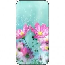 Шаблон №2258 Цветы на фоне снега