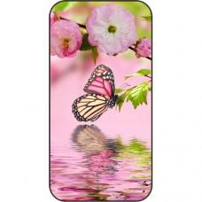 Шаблон №2262 Бабочка на розовых цветах