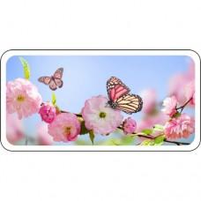 Шаблон №2282 Бабочка садится на розовый цветок