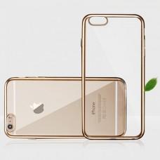 Силиконовый бампер с золотом для Iphone 6/6s