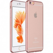 Силиконовый чехол с розовым золотом для iphone 6/6s