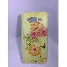 Силиконовый чехол композиция с цветами и бабочками Samsung Galaxy Grand Prime (G530)