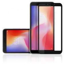 Защитное стекло 3d на весь экран для Xiaomi Redmi 6/6a черное