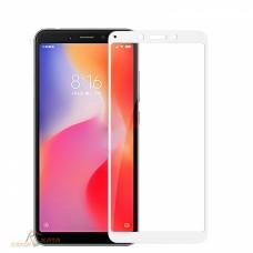 Защитное стекло 3d на весь экран для Xiaomi Redmi 6/6A белое