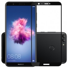 Защитное стекло 3d на весь экран для Huawei P Smart/Enjoy 7S (FIG-LX1) черное