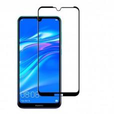 Защитное стекло 5d полной проклейки Full glue для Huawei Y6 2019 / Honor 8A черное