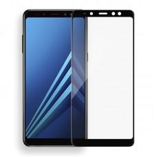 Защитное стекло 5d полной проклейки Full glue для Samsung Galaxy J8 (2018) черное