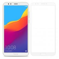 Защитное стекло 5d полной проклейки Full glue для Huawei Y6 Prime (2018) / Honor 7A Pro / Honor 7C , белое