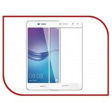 Защитное стекло 3D на весь экран для Huawei Y5 (2017), белое