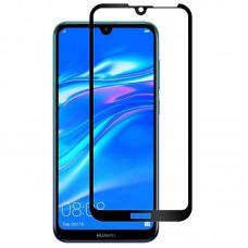 Защитное стекло 5d полной проклейки Full glue для Huawei Y7 2019 черное