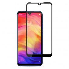 Защитное стекло 3d на весь экран для Xiaomi Redmi Note 7 черное