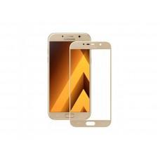 Защитное стекло 3d на весь экран для Samsung Galaxy A3 (2017) A320F, золотое
