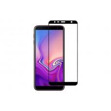 Защитное стекло 5d полной проклейки Full glue для Samsung Galaxy J6 Plus (2018) черное