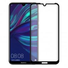 Защитное стекло 3d на весь экран для Huawei Y6 2019 / Honor 8A, черное