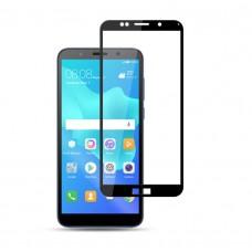 Защитное стекло 3d на весь экран для Huawei Y5 Prime (2018), Honor 7A черное