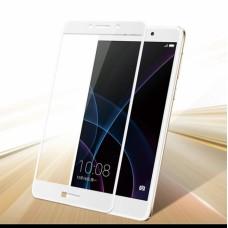 Защитное стекло 3d на весь экран для Huawei GR5 2017 / Honor 6X, белое