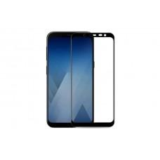 Защитное стекло 3d на весь экран для Samsung Galaxy J4 (2018), черное