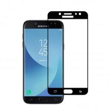 Защитное стекло 5d полной проклейки Full glue для Samsung Galaxy J7 (2017) j730 черное