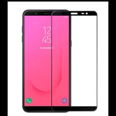 Защитное стекло 3d на весь экран для Samsung Galaxy J8 (2018), черное