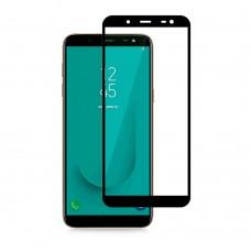 Защитное стекло 5d полной проклейки Full glue для Samsung Galaxy J6 (2018) , черное