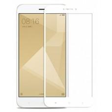 Защитное стекло полной проклейки Full glue 5d для Xiaomi Redmi 4X, белое