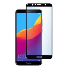Защитное стекло 5d полной проклейки Full glue для Huawei Y5 Prime (2018) / Honor 7A черное
