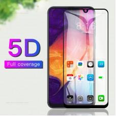 Защитное стекло 5d полной проклейки Full glue для Samsung Galaxy A40 черное