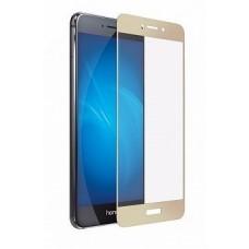 Защитное стекло 3d на весь экран для Huawei Y3 2017, золотое