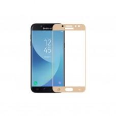 Защитное стекло 5d полной проклейки Full glue для Samsung Galaxy J5 (2017) J530, золотое