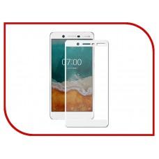 Защитное стекло 3d на весь экран для Nokia 7 Plus, белое