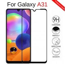Защитное стекло полной проклейки Full glue для Samsung Galaxy A31 / A315 черное