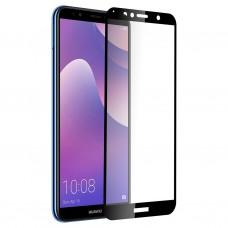 Защитное стекло 3d на весь экран для Huawei Y6 Prime (2018) / Honor 7A , черное
