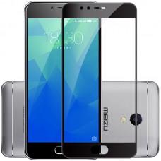 Защитное стекло 3d на весь экран для MEIZU M5 / M5 mini, черное