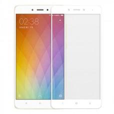 Защитное стекло 3d на весь экран для Xiaomi Redmi 4 ,белое