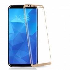 Защитное стекло 3d на весь экран для Samsung Galaxy S8 Plus (G955) золотое