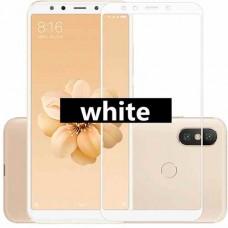 Защитное стекло 3d на весь экран для Xiaomi Mi A2 / 6X, белое