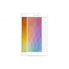 Защитное стекло 5D полной проклейки Full glue для Xiaomi Redmi Note 4 белое