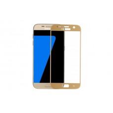 Защитное стекло 3d Full screen для Samsung Galaxy S7 (G930) золотое