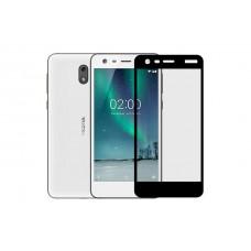 Защитное стекло 3d на весь экран для Nokia 2, черное
