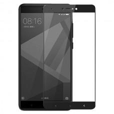 Защитное стекло 3d на весь экран для Xiaomi Redmi Note 4X ,черное