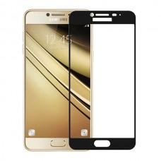 Защитное стекло 3d на весь экран для Samsung Galaxy C7 / C7 Pro, черное